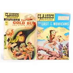 LOT OF 2 VINTAGE CLASSICS ILLUSTRATED COMIC BOOKS - 15 CENT COVERS