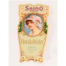 VINTAGE EMBOSSED SAIKO FLORIDA WATER ADVERTISING VICTORIAN TRADE CARD