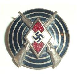 NAZI GERMAN HITLER YOUTH HJ MARKSMAN SHOOTING AWARD