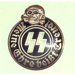 GERMAN NAZI WAFFEN SS MEINE EHRE HEIST TREUE MEMBERSHIP BADGE