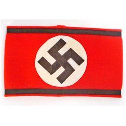 NAZI GERMAN WAFFEN SS SHULTZ STAFFEL SWASTIKA ARM BAND