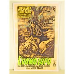 LON CHANEY LUOMO LUPO WOLFMAN MOVIE POSTER PRINT