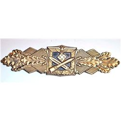 NAZI GERMAN ARMY CLOSE COMBAT CLASP IN GOLD