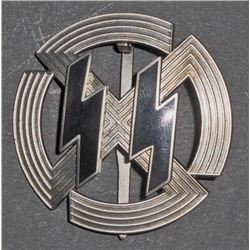 NAZI GERMAN WAFFEN SS SILVER SPORTS PROFICIENCY BADGE