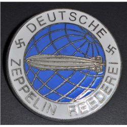 NAZI GERMAN DEUTSCHE ZEPPELIN REEDEREI AIRSHIP BADGE