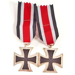 LOT OF 2 NAZI GERMAN 2ND CLASS IRON CROSSES