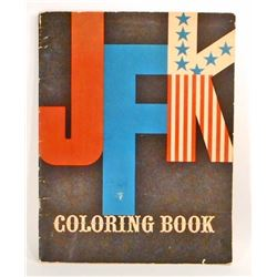 VINTAGE JFK KENNEDY COLORING BOOK - UNUSED