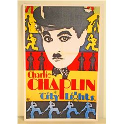 CHARLIE CHAPLIN CITY LIGHTS MOVIE POSTER PRINT