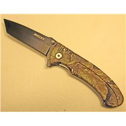CAMOUFLAGE BULLET SPRING ASSISTED FOLDING KNIFE
