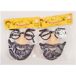 LOT OF 2 VINTAGE HALLOWEEN DISGUISE MASK SETS IN ORIG. PACKAGES