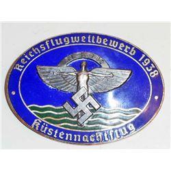 NAZI GERMAN NSFK KUSTENNACHTFLUG GLIDER KORPS BADGE