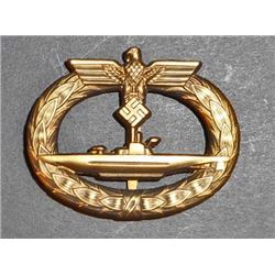 NAZI GERMAN NAVAL U-BOAT SUBMARINE BADGE