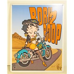 BETTY BOOP METAL SIGN