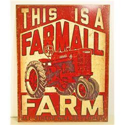 FARMALL FARM ADVERTISING METAL SIGN