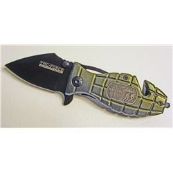 GREEN GRENADE RANGERS TAC FORCE SPRING ASSISTED FOLDING KNIFE