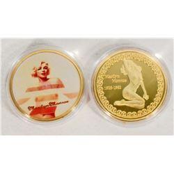 GOLD MARILYN MONROE COMMEMORATIVE COIN