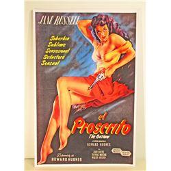JANE RUSSELL EL PROSCRITO MOVIE POSTER PRINT
