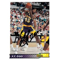 914471ab115 AC Green Signed Los Angeles Lakers 1992-93 Upper Deck Basketball Trading  Card  195
