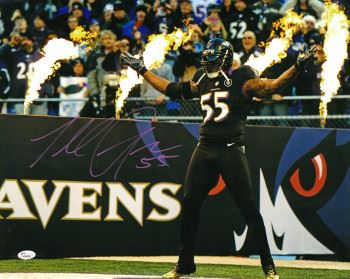 Terrell Suggs Signed Baltimore Ravens 16X20 Photo (Black Jersey ...