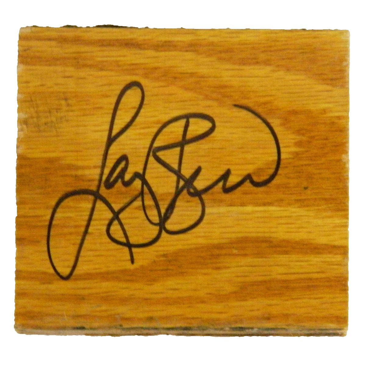 Larry Bird Signed Celtics Boston Garden Original Parquet 4x4 Floor