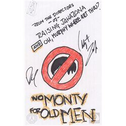 "The 100 ""No Monty For Old Men"" Character Doodle Signed by Christopher Larkin & Richard Harmon"