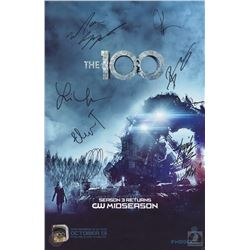 The 100 San Diego Comic Con 2015 Season Two DVD Poster Signed by 6 Cast Members