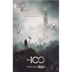 The 100 WonderCon 2016 Season Three Poster Signed by 6 Cast Members