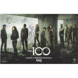 The 100 San Diego Comic Con 2016 Season Four Promo Poster Signed by 7 Cast Members