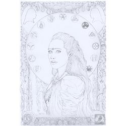 The 100 Custom Lexa Art Print