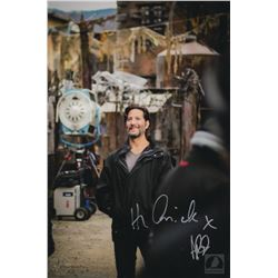 "The 100 Behind-the-Scenes Aaron Ginsburg ""Kane"" Photo Signed by Henry Ian Cusick"