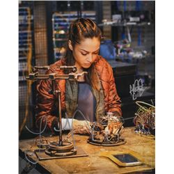 "The 100 Behind-the-Scenes Aaron Ginsburg ""Raven"" Photo Signed by Lindsey Morgan"