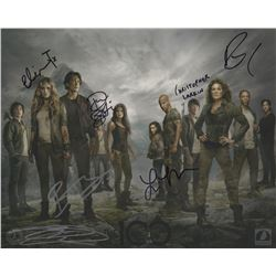 The 100 Season One Photo Signed by 7 Cast Members