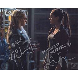 The 100 Clarke and Raven Photo Signed by Eliza Taylor & Lindsey Morgan