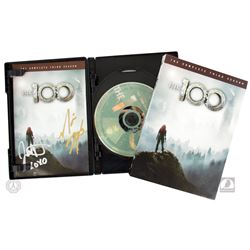 The 100 Complete Third Season 4-Disc DVD Set Signed by Marie Avgeropoulos and Jessica Harmon