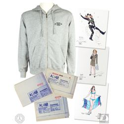 ALIAS Original Production Blueprints, Costume Design Sketches & Sweatshirt