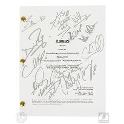 Arrow Pilot Script Signed by 12 Cast Members