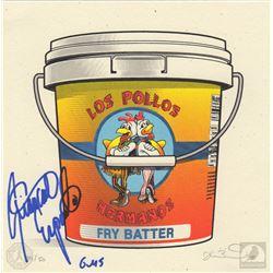 Breaking Bad Los Pollos Hermanos Art Print Signed by Giancarlo Esposito