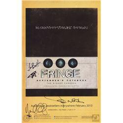 Fringe September's Notebook & Book Promo Poster Signed by John Noble & Michael Cerveris