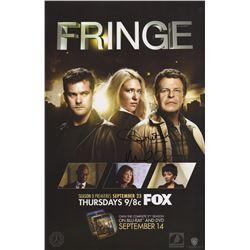 Fringe Season Three FOX Fall Promo Poster Signed by John Noble & Michael Cerveris