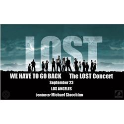 """LOST Pair of Tickets to the Michael Giacchino """"We Have to Go Back: The LOST Concert"""" in LA (9/23/16)"""