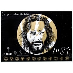 """LOST """"Not Penny's Boat"""" Limited Edition Peter Strain Screen Print Signed by Henry Ian Cusick"""