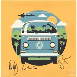 "LOST ""4 8 15 16 23 42"" Limited Edition Dharma Van Print Signed by Garcia, Cuse & Lindelof"