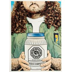 """LOST """"You Want to Change, Then Change"""" Limited Edition Hurley Print Signed by Jorge Garcia"""