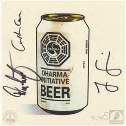 "LOST ""DHARMA Beer"" Limited Edition Print Signed by Jorge Garcia, Carlton Cuse & Damon Lindelof"
