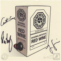 "LOST ""Dharma Wine"" Limited Edition Print Signed by Jorge Garcia, Carlton Cuse & Damon Lindelof"