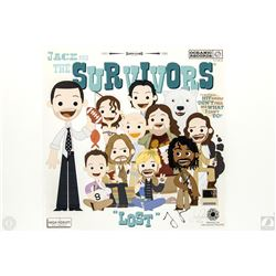 """LOST """"Jack and The Survivors"""" Limited Edition Art Print Signed by Jorge Garcia"""