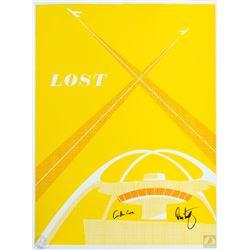 "LOST ""LA X"" Silkscreen Ty Mattson Print Signed by Carlton Cuse & Damon Lindelof"