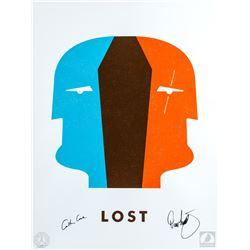 "LOST ""Dual Locke"" Silkscreen Ty Mattson Print Signed by Carlton Cuse & Damon Lindelof"