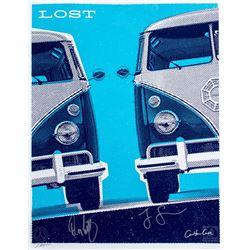 "LOST ""Dharma Bus"" Silkscreen Ty Mattson Print Signed by Jorge Garcia, Carlton Cuse & Damon Lindelof"