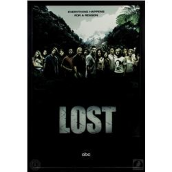"""LOST Framed Season Two """"Everything Happens For a Reason"""" Poster"""